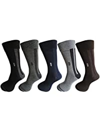 RC. ROYAL CLASS Men's Calf Length Cotton Formal Socks (Pack of 5 Pairs)