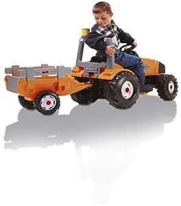 Smoby - Plein Air - Tracteur + Remorque Renault TGrand Modèle  Ares