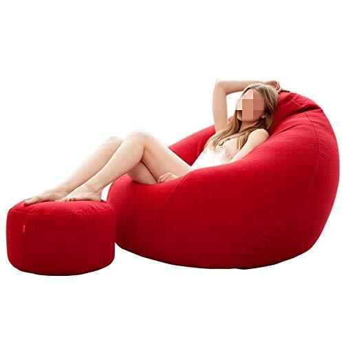 Ddl Klassischer Cord Bean Bag Stuhl - Giant Luxury Jumbo Cord Snuggle Seat (120x120),Red