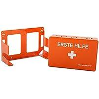 Erste-Hilfe-Set Economy mit Inhalt nach DIN 13157 | platzsparender Verbandkasten mit Wandhalterung | für Betriebe wie Verwaltung, Handel und Baustellen oder Privatgebrauch