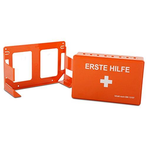 Erste-Hilfe-Set Economy mit Inhalt nach DIN 13157 | platzsparender Verbandkasten mit Wandhalterung | für Betriebe wie Verwaltung, Handel und Baustellen oder Privatgebrauch -
