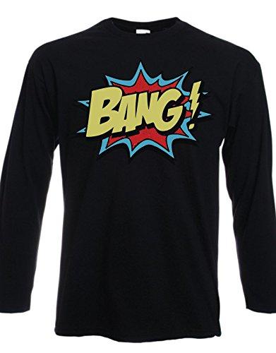 Tshirt maniche lunghe Fumetti - Bang! - Tutte le taglie by tshirteria