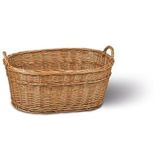 Adam Schmidt Laundry Basket with 2 Handles Wicker 700 x 460 x 275 mm Dark
