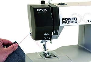 Toyota Power fabriq–Máquina de Coser (Brazo Libre 17programas, para Extra Grueso Material, Incluye Soporte y Accesorios de Deslizamiento, Piel Costura Posible de Toyota