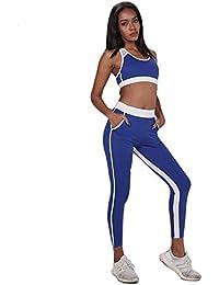 97a9a2bb87 Weentop Set de Yoga para Mujer Traje de Running Deportivo con Bolsillo para  Mujer (Color