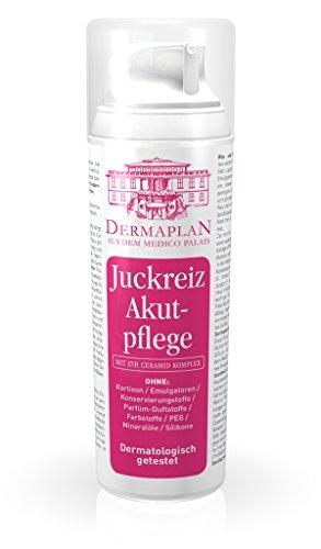 Lindern Juckreiz (Dermaplan Juckreiz Akutpflege | trockene Haut & akuten Juckreiz effektiv lindern | Hautreizungen | Schuppenflechte | Neurodermitis | feuchtigkeitsspendend | 100% Vegan | Made in Germany, 150 ml)