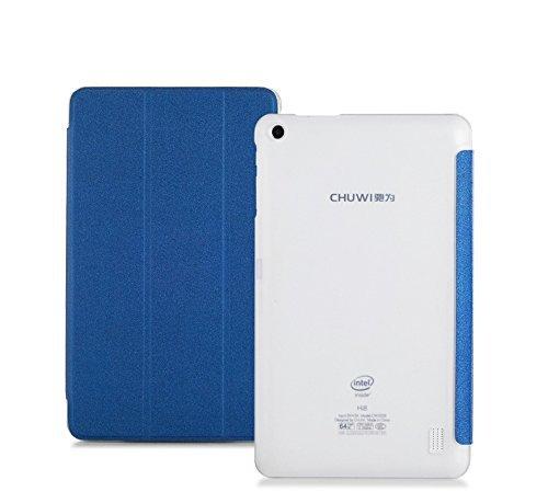 CHUWI Hi8 Pro / Vi8 Plus caso, KuGi ® CHUWI Hi8 Pro / Vi8 Plus caso - Multi-ángulo del soporte de la cubierta de cuero delgada de la PU-libro para CHUWI Hi8 Pro / Vi8 Plus Tablet.(Azul)