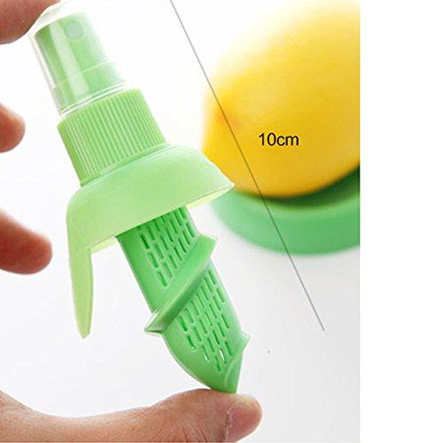 MMRM Hand Halten Zitrone Pressung Sprüh Entsafter Fruchtsaft Sprüher Vernebler – Grün - 3
