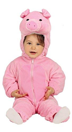 Guirca costume maialino neonati 12/24 mesi, colore rosa, 2 anni 87597