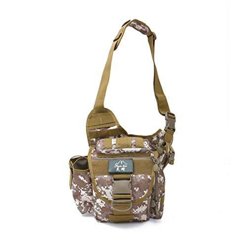 Wmshpeds Ventole militare impermeabile sella outdoor bag men multi funzionale tactical borsa Messenger spalla di mimetizzazione fotografia fotocamera borsa portamonete D