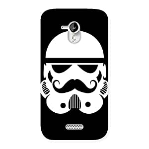 Mustach Black Back Case Cover for Micromax Canvas HD A116