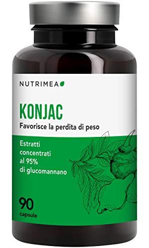 KONJAC • 640 mg 95% Glucomannano • Brucia Grassi Blocca Fame Rizomi Registrato Ministero Salute