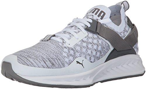 Puma-Mens-Ignite-Evoknit-Lo-Sneaker-White-Quarry-Quiet-Shade-12-M-US