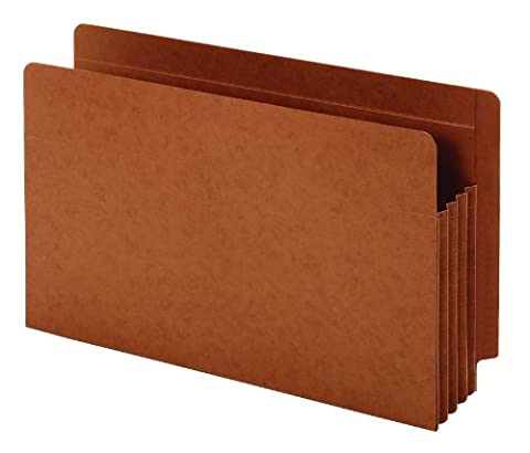 Globe-Weis/Pendaflex End Tab File Pockets, 3.5-Inch Expansion, Heavy Duty, Tyvek Gussets, Legal Size, Brown, 10 Pockets per Pack