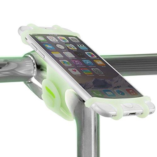 Fahrrad Handyhalterung für alle Smartphones, rostfrei und bruchfest, Montage am Lenker Vorbau, universaler Fahrradhalter fürs Handy mit einem 4-6 Zoll Bildschirm, Handyhalter, Rennrad Mountainbike