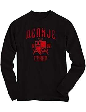 Shirt Happenz Delije Sudadera | Vintage Look Pulli | Crvena Zvezda Beograd Sever | Red Star Fan | Sweater | Srbija...