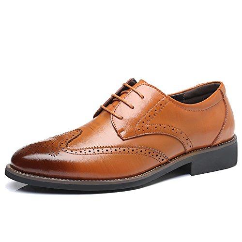 MERRYHE Chaussures Formelles D'affaires Pour Les Hommes Cuir Véritable En Cuir Ups Brogue Mode Chaussures Classiques De Derby Pour Le Mariage De Travail De Partie