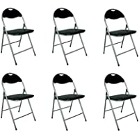 Sedie Apri E Chiudi Design.Amazon It Sedie Moderne Nero Casa E Cucina
