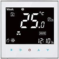Thermomerter Gooo BAC-2000 Aire Acondicionado Central Tipo LCD táctil Digital de 2 Tubos Fan Coil Unidad termostato de Ambiente, exhibición de Velocidad del Ventilador/Reloj/Temperatura/Tiempo /