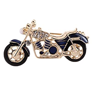 Baoblaze Strass Brosche Motorrad Broschen Bekleidungs Schmuck für Hochzeit Geburtstags Geschenk