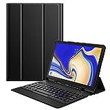 MoKo Funda para Samsung Galaxy Tab S4 10.5 Teclado, Cubierta con Soporte para S Pen, Protector de Teclado Inalámbrico para Galaxy Tab S4 10.5 Inch (SM-T830 and SM-T835) 2018 Release, Negro