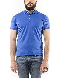 7b1d806bacc0 Ralph Lauren Polo Logo Manches Courtes Bleu