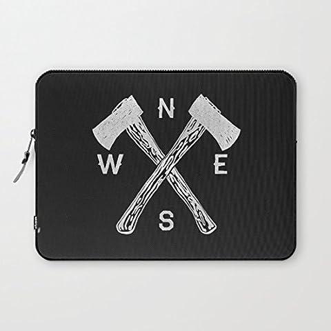 Whiangfsoo Compass Black Waterproof Soft Neoprene Sleeve Case Bag Pouch