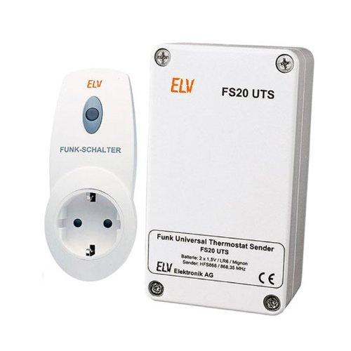 FS20 UTS Funk Universal Thermostat Sender und Funk Schaltsteckdose Temperatur Schalten