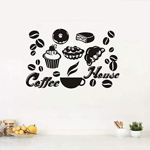 nyl kuchen kaffee haus wandaufkleber abnehmbare diy wohnkultur dekoration lebensmittel wandtattoos selbstklebende dekorative 69x43 cm ()