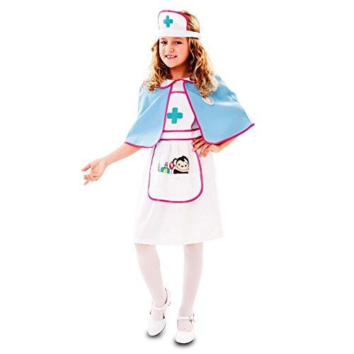 Kinderkostüm Krankenschwester Effi Gr. 92-158 Kleid Umhang Haube Fasching Ärztin (10-12 (Doktor Kostüm Der 11)