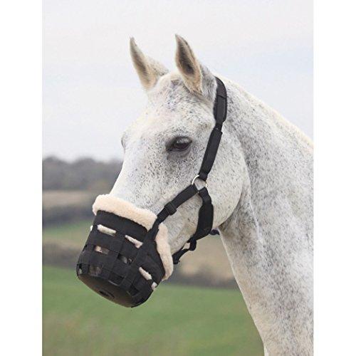 Shires Deluxe Comfort Grazing Muzzle Pony Black Deluxe Fell