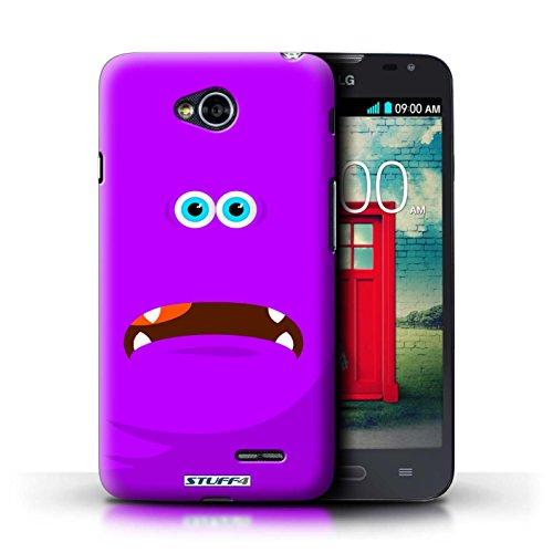 Kobalt® Imprimé Etui / Coque pour LG L70/D320 / Rouge conception / Série Monstres Pourpre
