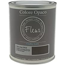 Fleur Paint 13406 - Pintura mineral (base agua, 750 ml) color chocolate wish