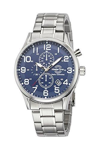 Master Time Funk Quarz Herren Uhr Analog mit Edelstahl Armband MTGS-10564-32M