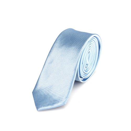 Corbata estrecha brillada 5 cm de color azul claro - hecho a mano // diferentes colores seleccionables