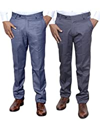 Indistar Combo Offer Mens Formal Trouser (Pack Of 2) - B01JRW679O