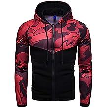 OSYARD Veste Homme Camouflage Vêtements Sweat a Capuchon Zipper T-Shirt  Corde Chemisier À Capuche 9fa3cd61cba