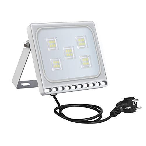 LED Flutlicht Außenstrahler 30W 2400lm Outdoor-Sicherheitsleuchte Wasserdicht IP65 Ultradünnes Scheinwerfer Flutlichtstrahler Wandlicht 6500k Kaltes Weiß Licht für Garten Garage[Energieklasse A+] -