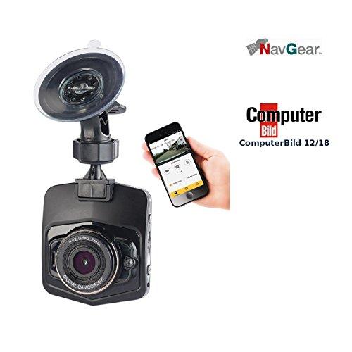 NavGear Crash Cam: 4K-UHD-Dashcam mit G-Sensor, WLAN, Bewegungserkennung, 170°-Weitwinkel (Dashcam mit Akku)