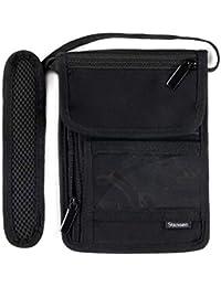 Stansøn ® Brustbeutel aus Canvas mit Nackenschoner & RFID Blocker