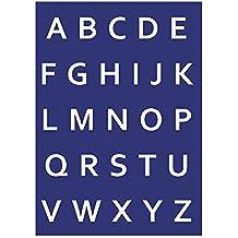 Rayher 4501200 - Plantilla de estarcido (lámina DIN A4, con raspador), diseño de abecedario