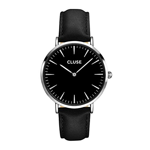 Cluse La Boheme Damen-Armbanduhr 38mm Armband Leder Schwarz Quarz CL18201