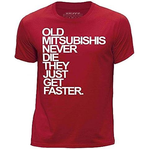 STUFF4 Chicos/Edad de 3-4 (98-104cm)/Rojo/Cuello redondo de la camiseta/Old Mitsubishis Never Die