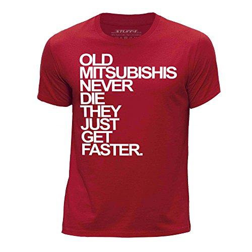 stuff4-ragazzi-eta-12-14-152-164cm-rosso-girocollo-t-shirt-old-mitsubishis-never-die