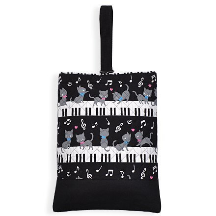 Black cat waltz to dance on (quilting) Piano Kids shoes case of hand made sense (black) made in Japan N3222700 (japan import)