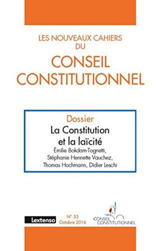 Les Nouveaux cahiers du Conseil Constitutionnel N°53-2016 par Collectif