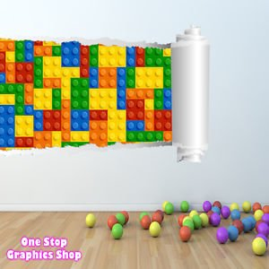 1Stop Graphics   Shop Lego Wall Sticker Full Colour   Boys Girls Bedroom  Batman Superman Toy   C274   Left To Right   Size: Large: Amazon.co.uk:  Kitchen U0026 ...
