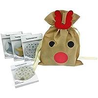 Taschenwärmer Sterne (4er Set) und Weihnachtsgeschenkbeutel - tolles Wichtelgeschenk preisvergleich bei billige-tabletten.eu