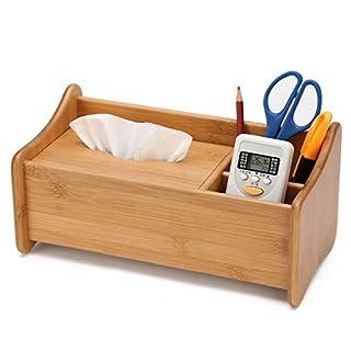 Wen Boîte à mouchoirs en Bois Massif Multi-Usage avec tiroir de Bureau Organisateur cosmétique boîte de Rangement créative Couleur du Bois (Taille : (29 * 15 * 13.7cm/11.4 * 5.9 * 5.4in))