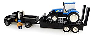Universal Hobbies-uhk1211-Pick Up con SA Remolque y Tractor-New Holland con Cargador y fermier-231Piezas